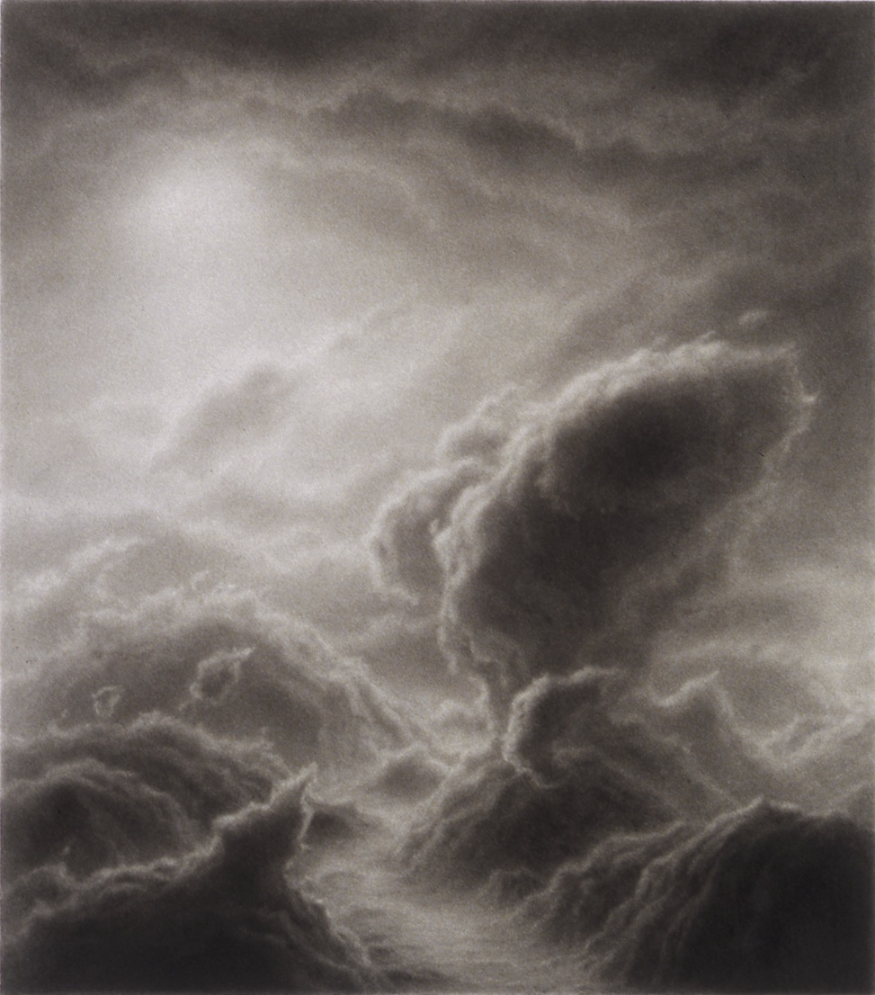 Hilary Brace,  Untitled (#5-02),  2002, Charcoal on mylar, 4.375h x 3.875w in.