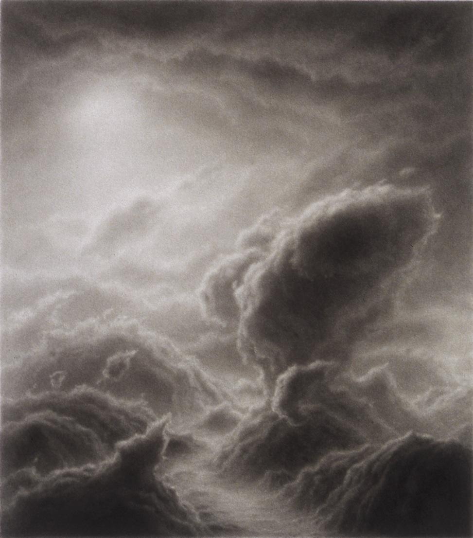 Hilary Brace,  Untitled (#5-02),  2002, Charcoal on mylar, 4.375h x 3.875w in.