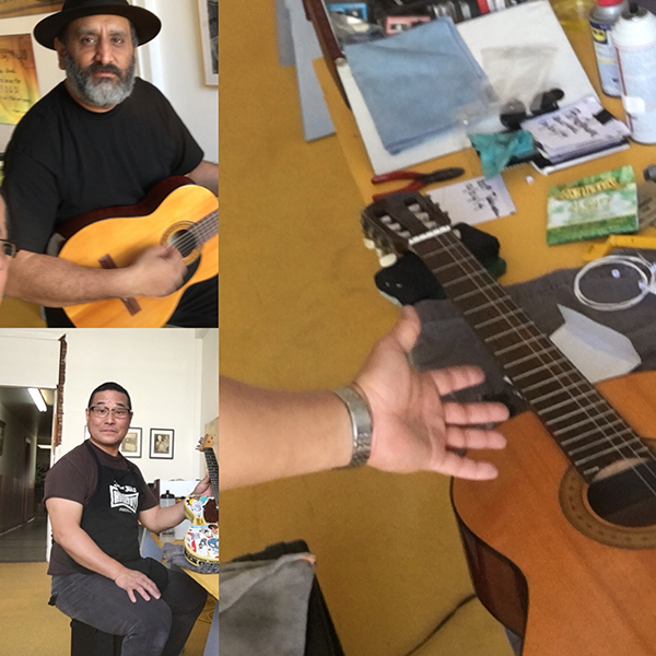 Guitar Maintenance Saturdays; every Saturday, bring your guitar and a pack of strings and Alan will set it up for you for free