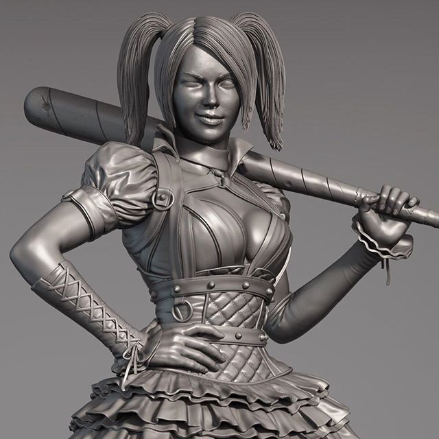 This was the first female statue I've sculpted for Prime1 Studios, and I believe it was the first female character they ever produced, so it was an important piece because it showed what we could produce in that category. In the end I think it turned out pretty awesome! Thanks to Alvaro and Fabiano that also worked on this and to Johnny Matsumoto who was the Creative Director. - Essa foi a primeira estatua feminina que eu esculpi para Prime1 Studios, e tambem foi a primeira estatua feminina que foi produzida pela empresa, e por isso e uma estatua bem importante para mostrar o que conseguiamos produzir nessa categoria. Obrigado ao Alvaro e o Fabiano que tambem trabalharam nessa estatua e ao Johnny Matsumoto que foi o diretor criativo. . . . #harleyquinn #DC #Batman #Comics #HQ #3d #Sculpt #collectible #art #statue #prime1 #sculptor #zbrush #digitalart #harley #arte #estatua #toy