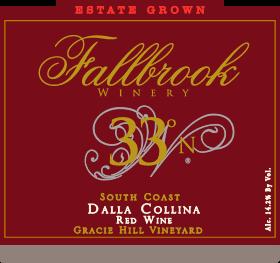 "2012 33º N, South Coast (Gracie Hill Vineyard ""Dalla Collina"")"