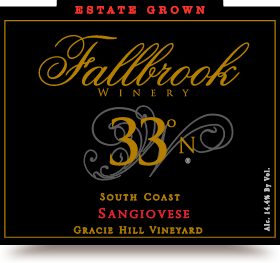 2011 33° North Sangiovese