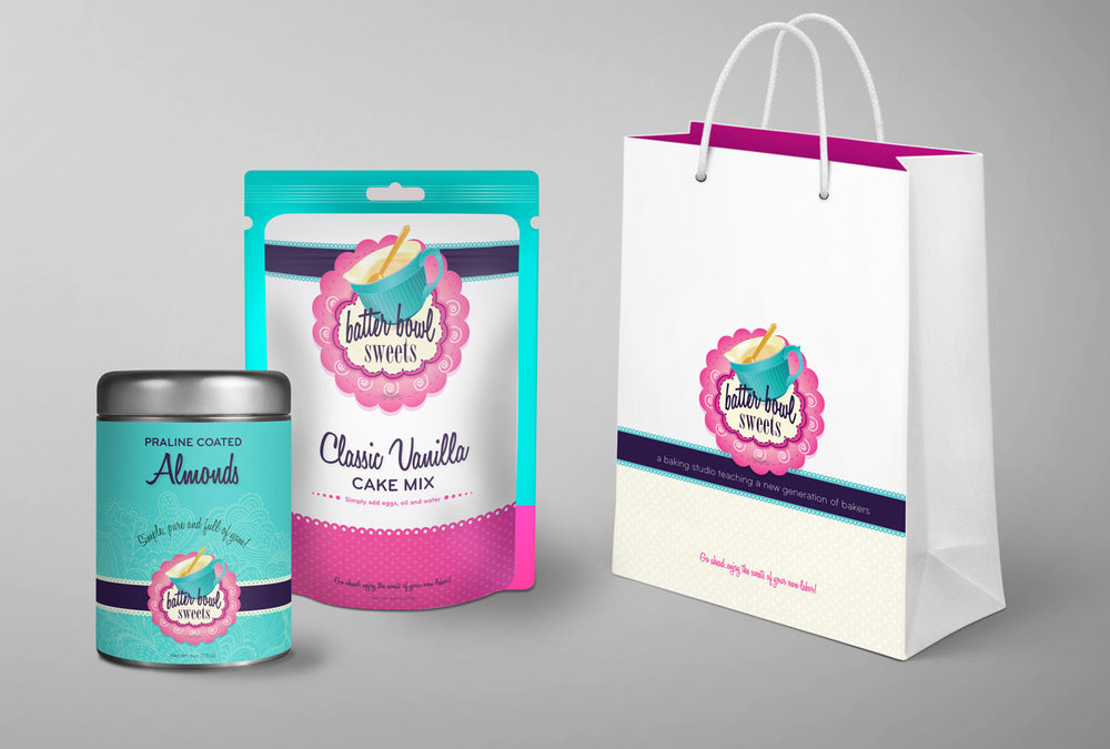 RS Creative&Design_Logo and branding items for a concept educational bakery studio