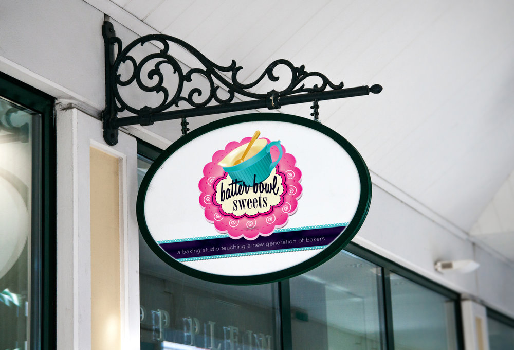 RS Creative&Design_Outdoor store front sign for a concept educational bakery studio