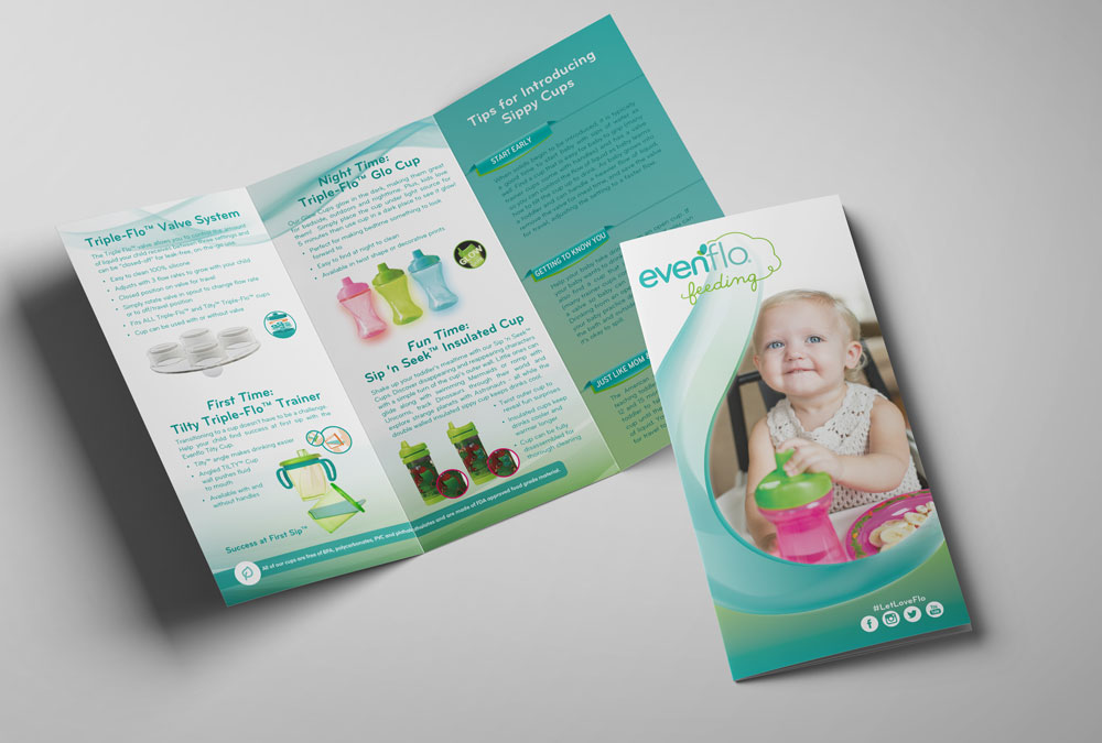 RS Creative&Design_Tri-fold brochure for Evenflo Feeding