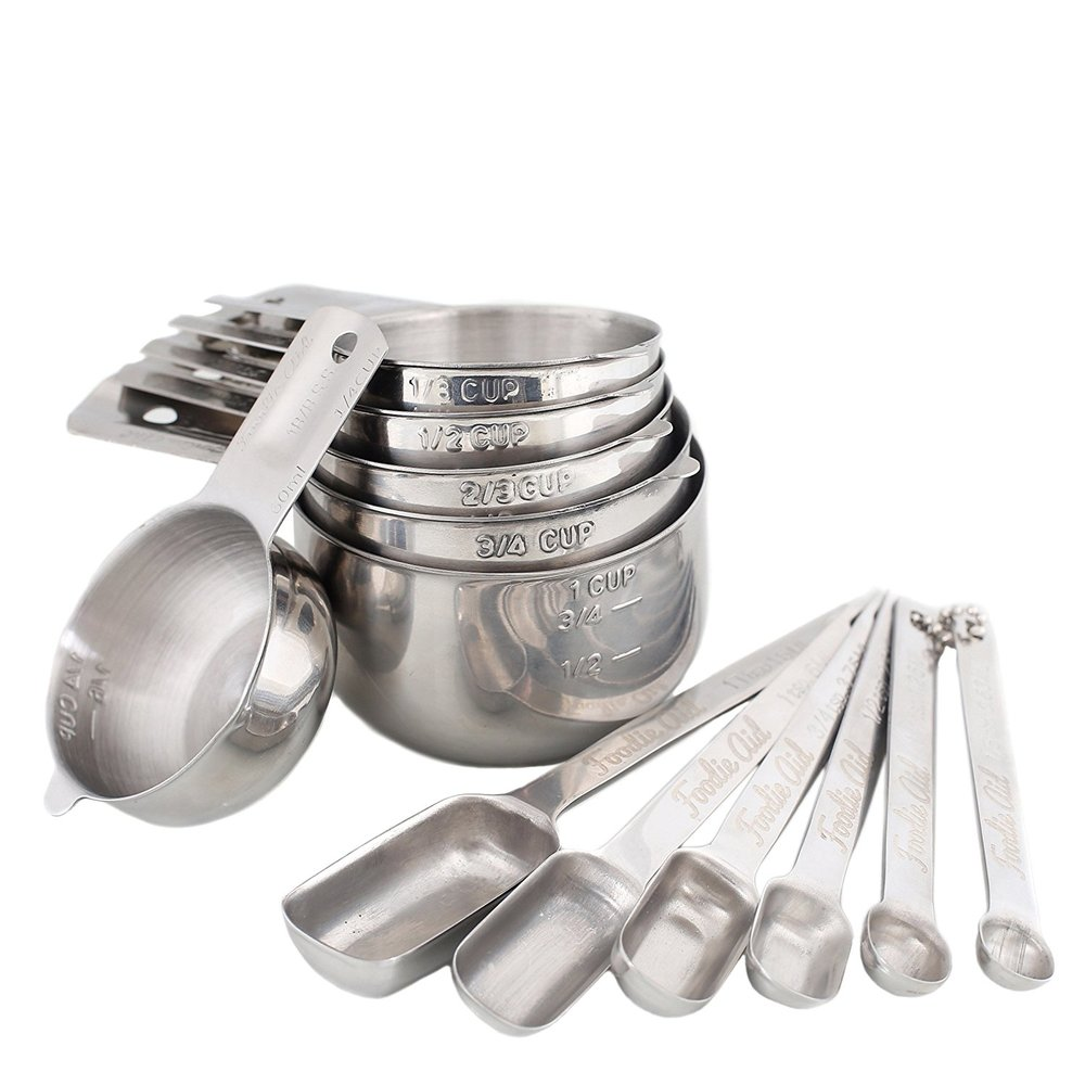 12 Piece Measuring Cups & Spoons -