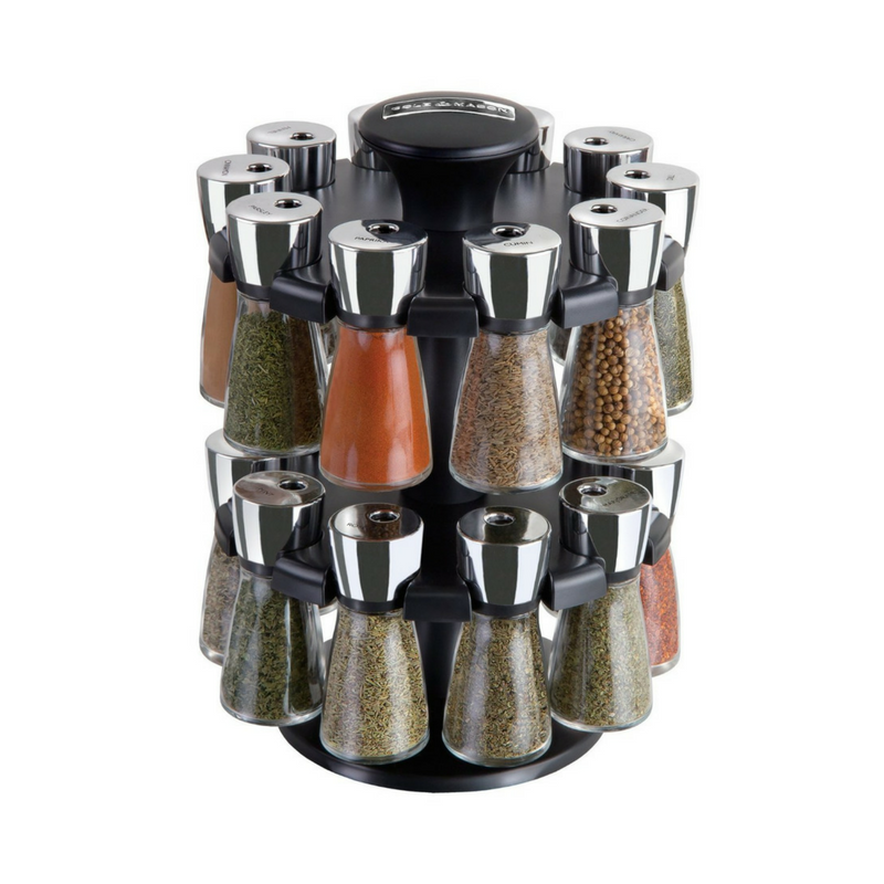 Herb & Spice Rack With Spices -