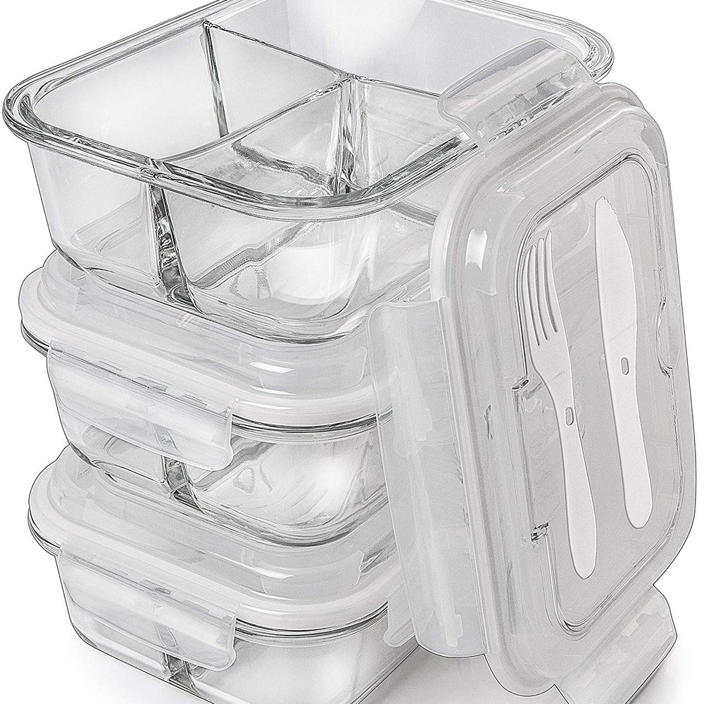 Glass Meal Prep Containers -