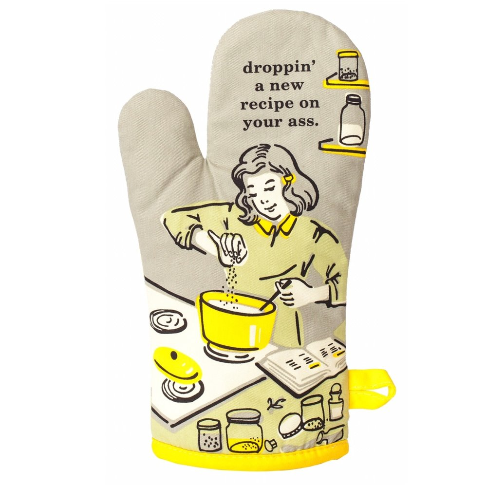 Droppin' A New Recipe Oven Mitt -