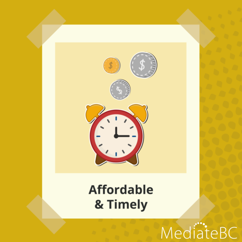 It's less expensive and faster than going to court. All of it can happen on your schedule.