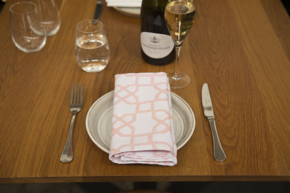 Smashing Plates napkins are the perfect complement to a bursting floral arrangement, or a simple splash of colour to an undressed table.