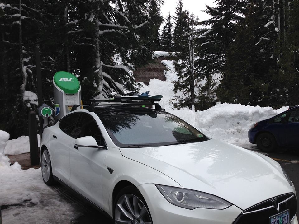 Mt. Hood SkiBowl  was the first ski resort in the country to install an electric vehicle charger.