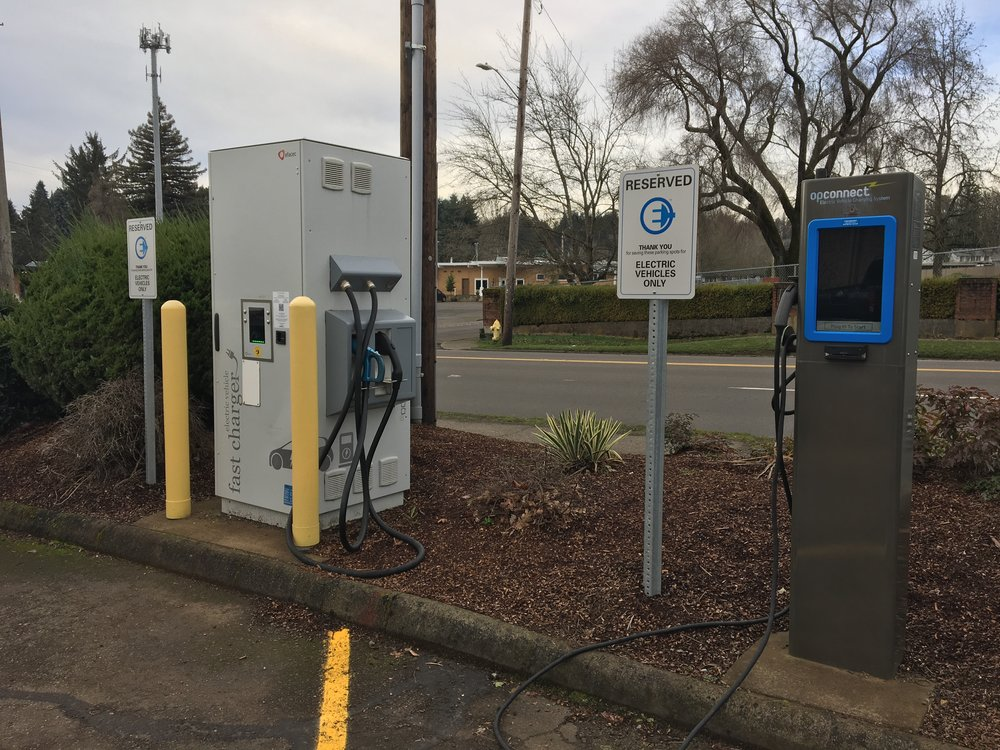 Give your car a fast charge while you pick up groceries at this  Roth's Market  in Salem.