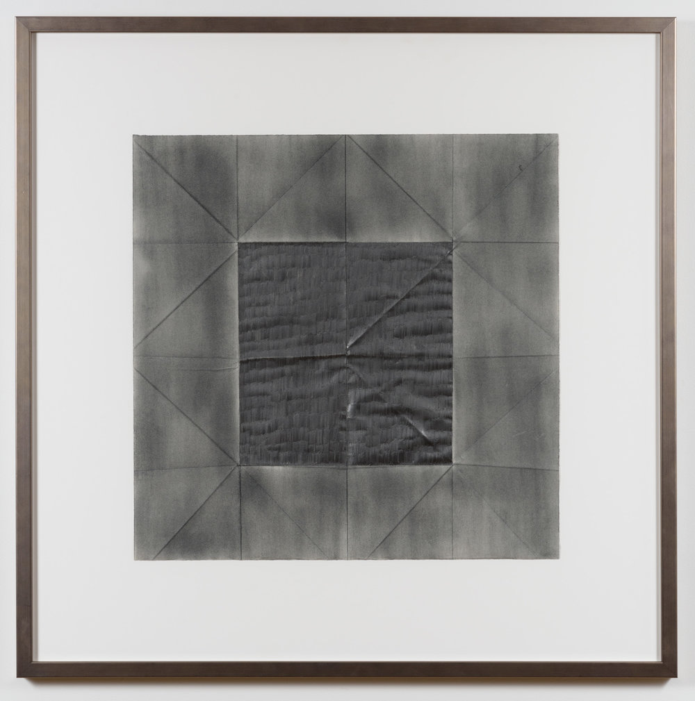 Jenene Nagy  Older than the host 2,  2015 Graphite on folded paper, 20 x 20in.