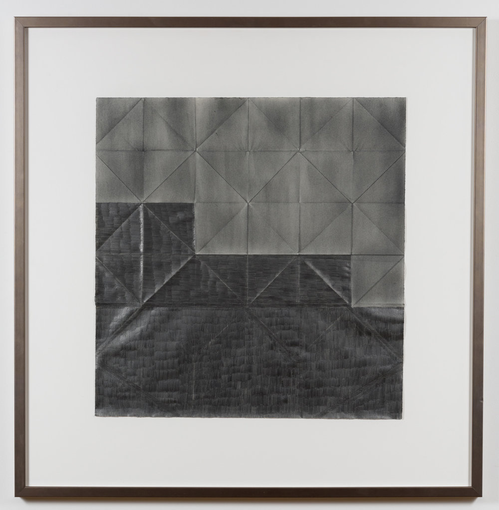 Jenene Nagy  Older than the host 3,  2015 Graphite on folded paper, 22 x 21.5in.