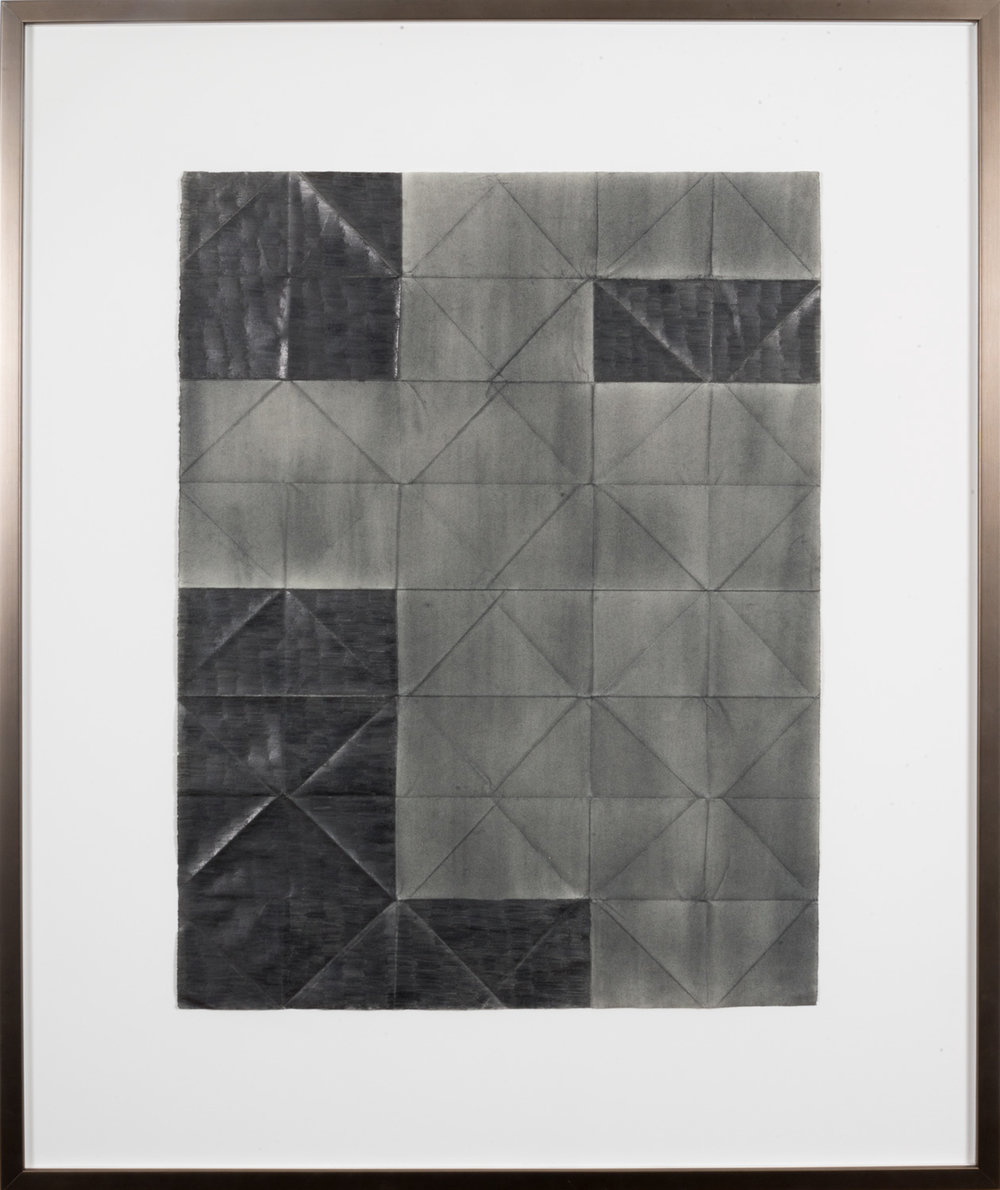 Jenene Nagy  Older than the host 5,  2015 Graphite on folded paper, 20 x 26in.