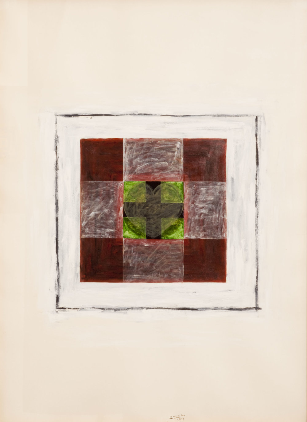 Billy Al Bengston  Untitled,  1959. Watercolor on paper, 21.5 x 29.75in.