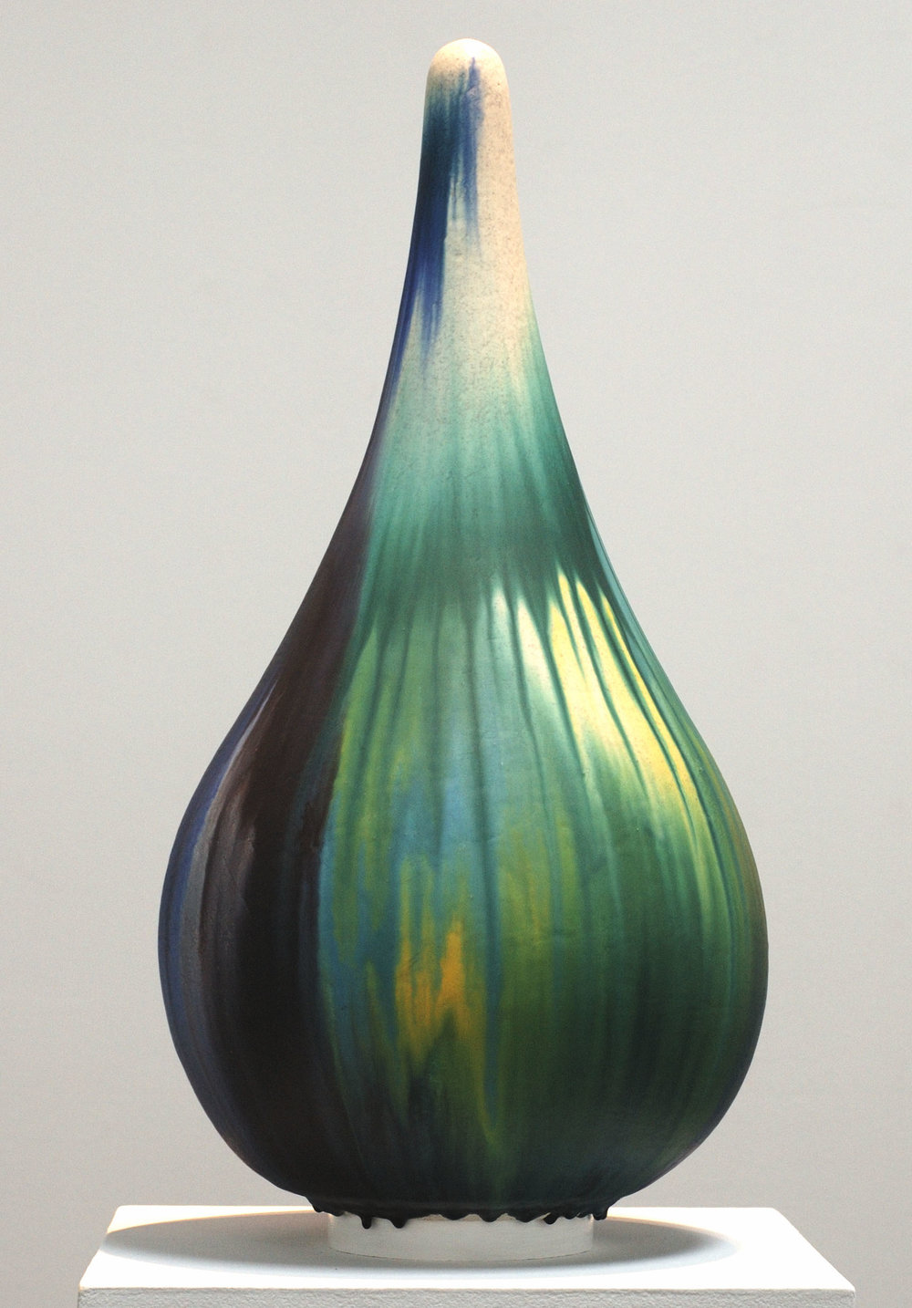 Mineo Mizuno   Tear Drop - TS10  (2007) Ceramic, 15 x 30 x 15in.
