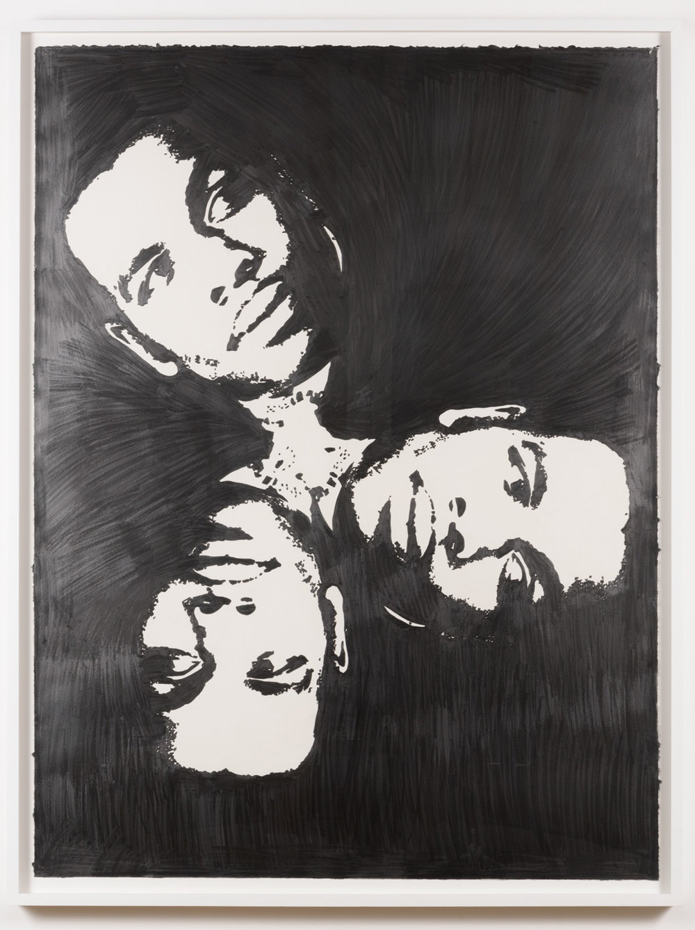 Justin Cole   Marcus, Martin & Malcolm  (2010) Graphite on paper, 30 x 40in.
