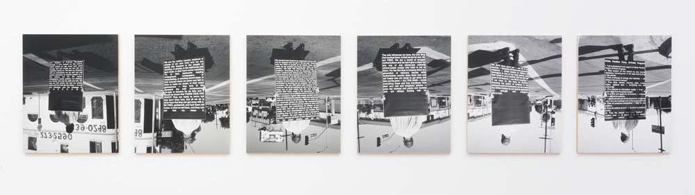 Justin Cole   41st and Central (White Panther Party)  (2014-15) Silver gelatin print, 96 x 20in.