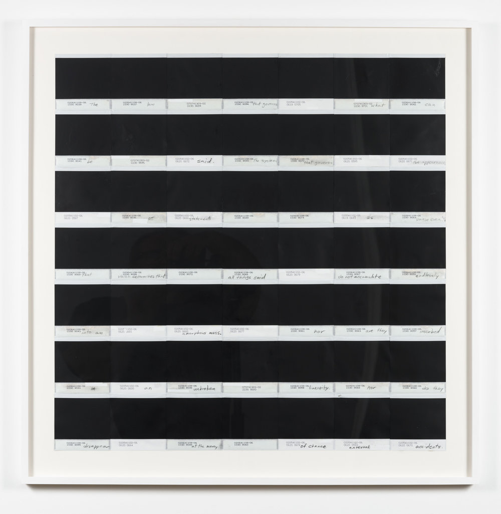 York Chang   Of Distant Stars II (Foucault's Poem)  (2015) 98 pieces of reversed polaroid 600 film, circa 1987, on museum rag paper, 32.5 in x 33in.