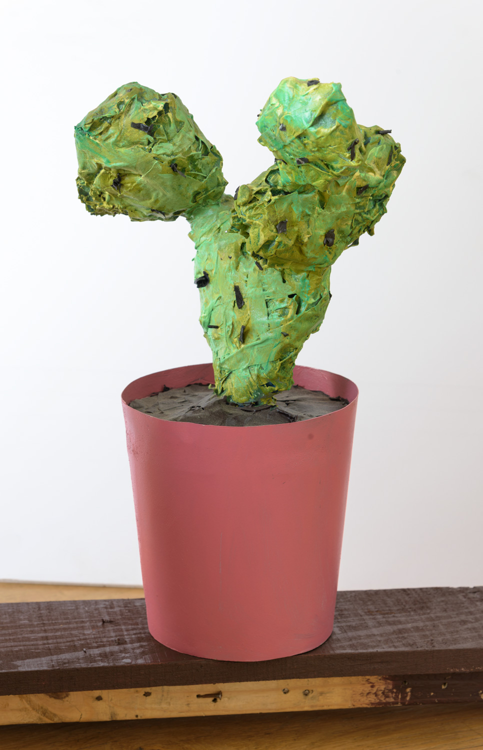 Erik Parra   Nopal  (2012) Acrylic, spray paint, tape wood and paper, 11 x 16 x 7in.