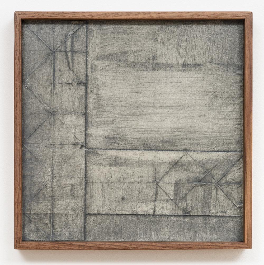 Jenene Nagy   weight/object 8  (2017) Oil on paper, 10 x 10 x 1.5in.