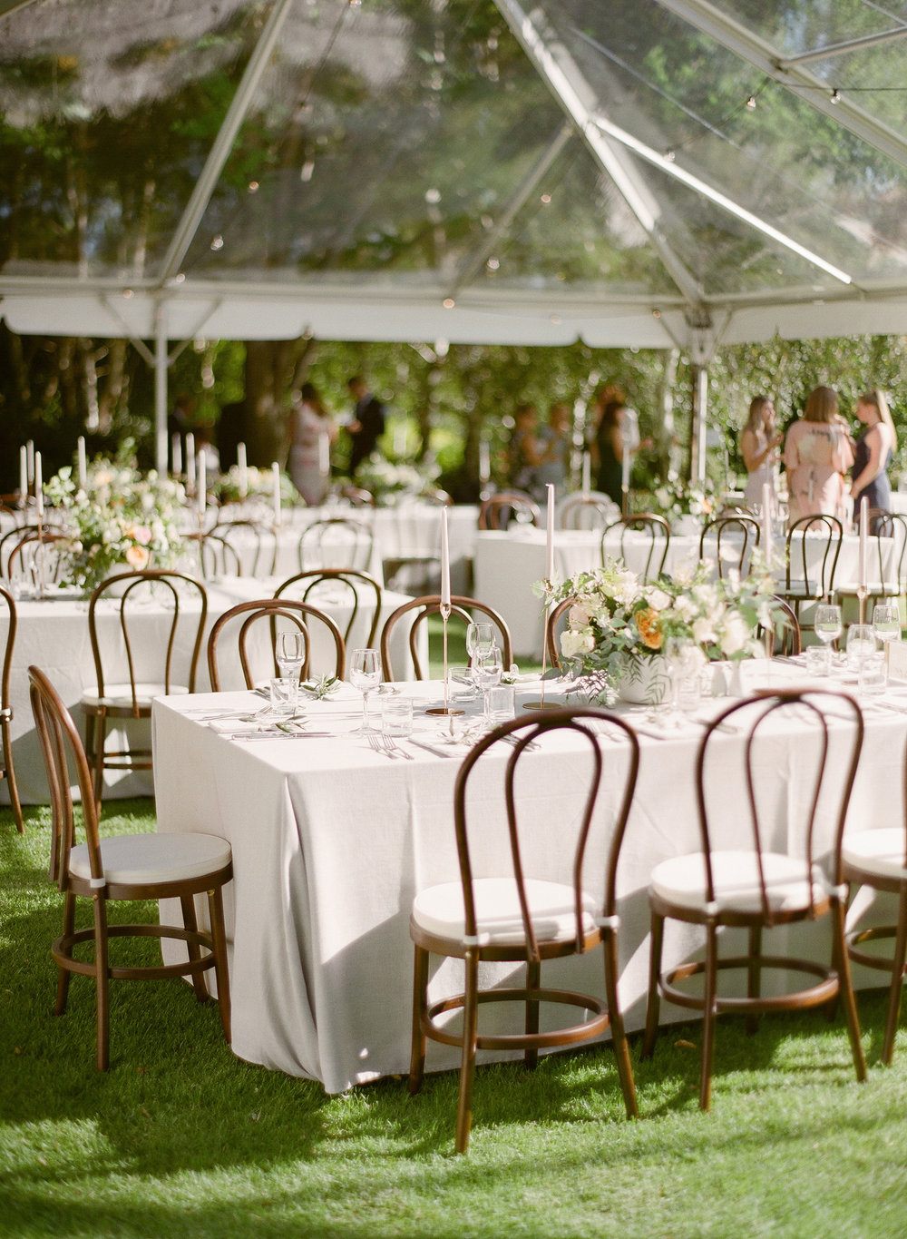 Aravella Event Design | Tree Elle Retreat Wedding | Photo by Jemma Keech Photography | Reception Space | Clear Marquee