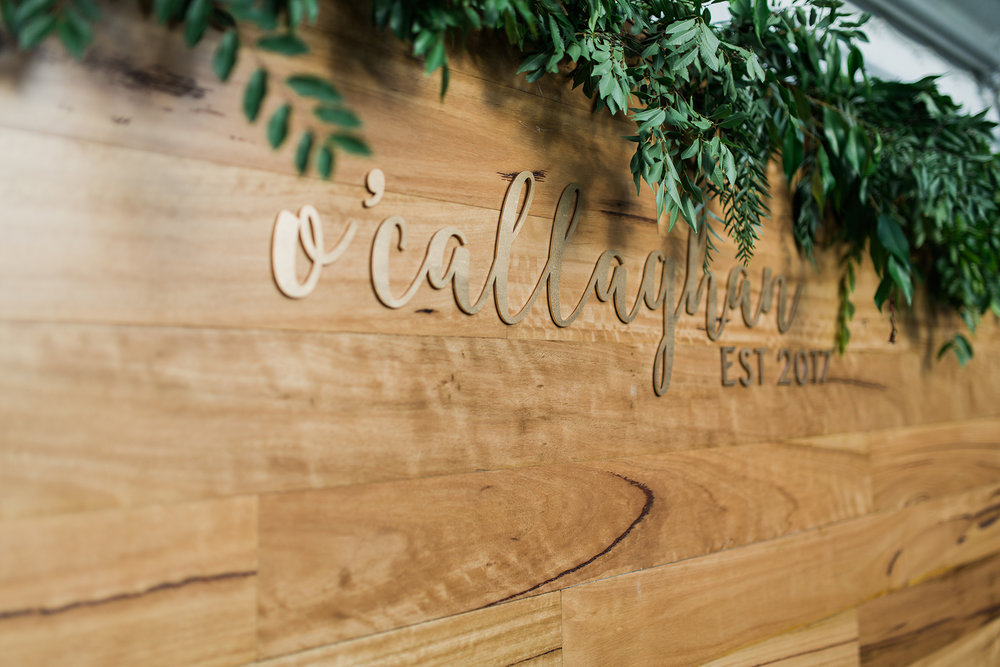 Aravella Event Design | Tree Elle Retreat Wedding | Photo by Jemma Keech Photography | Wedding Sign