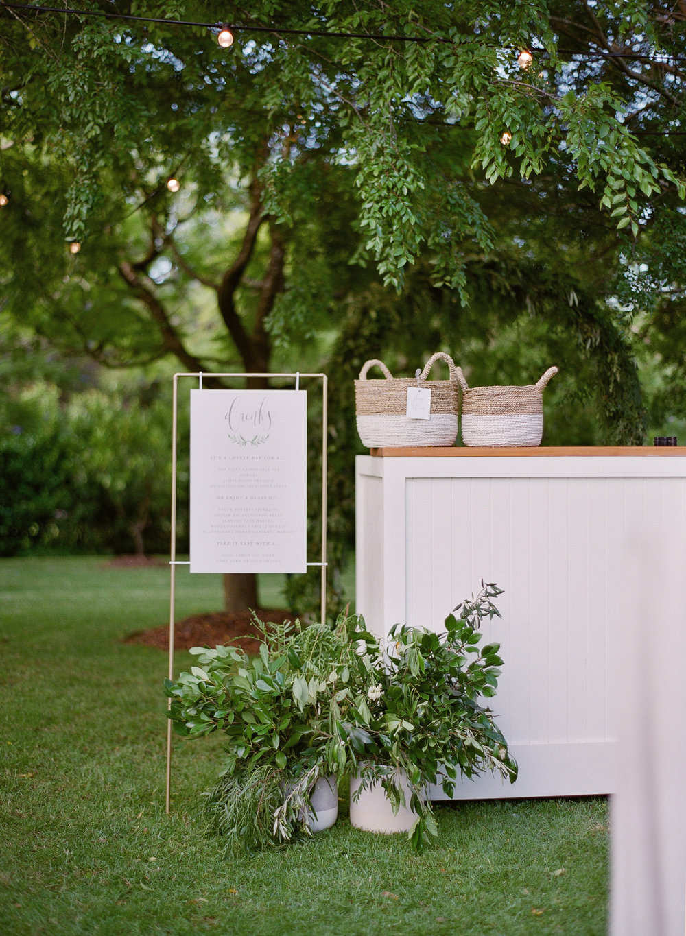Aravella Event Design | Tree Elle Retreat Wedding | Photo by Jemma Keech Photography | Garden Wedding | Bar | Signage