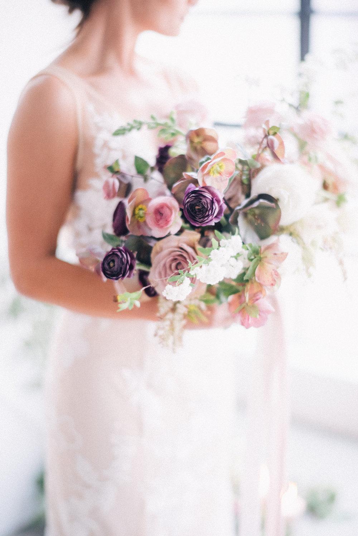 Aravella Event Design | Blush Mauve Bouquet | Photo by Ben Yew Photography
