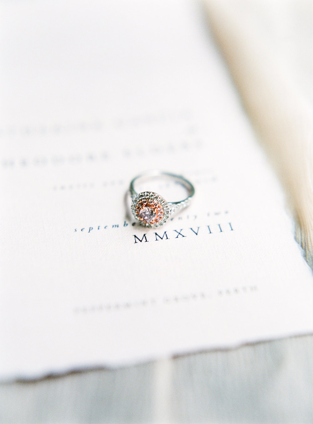 Aravella Event Design | Pink Diamond Engagement Ring | Photo by Ben Yew Photography