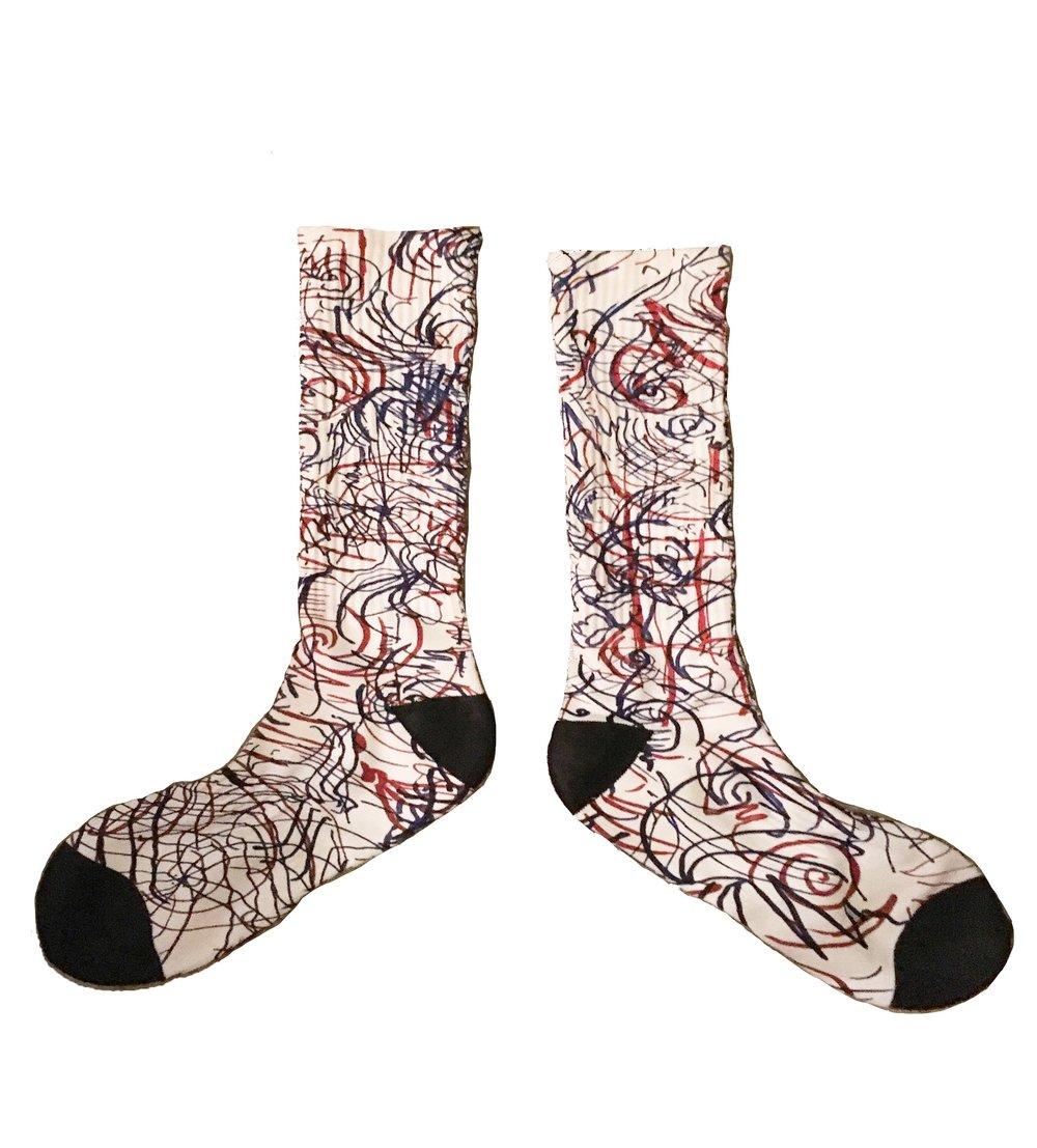 nobody can tell me what i feel socks stock image.jpg