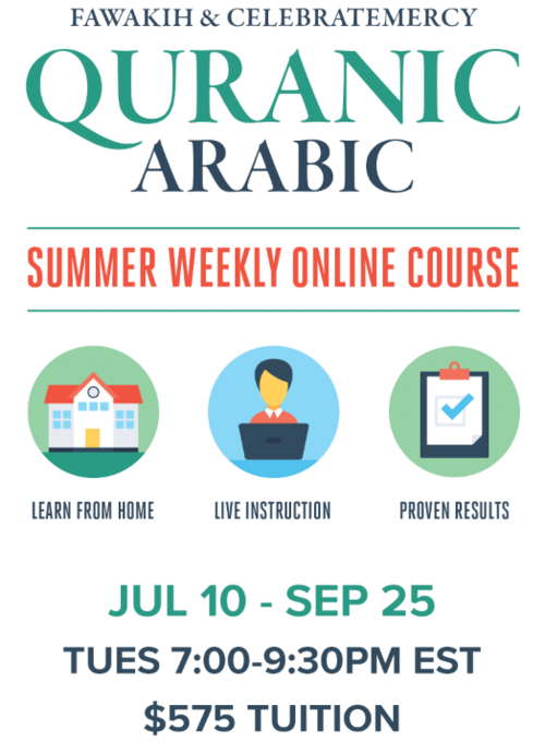 Summer Weekly Quranic Arabic Online Payment