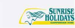 Vintage Sunrise Holidays Logo