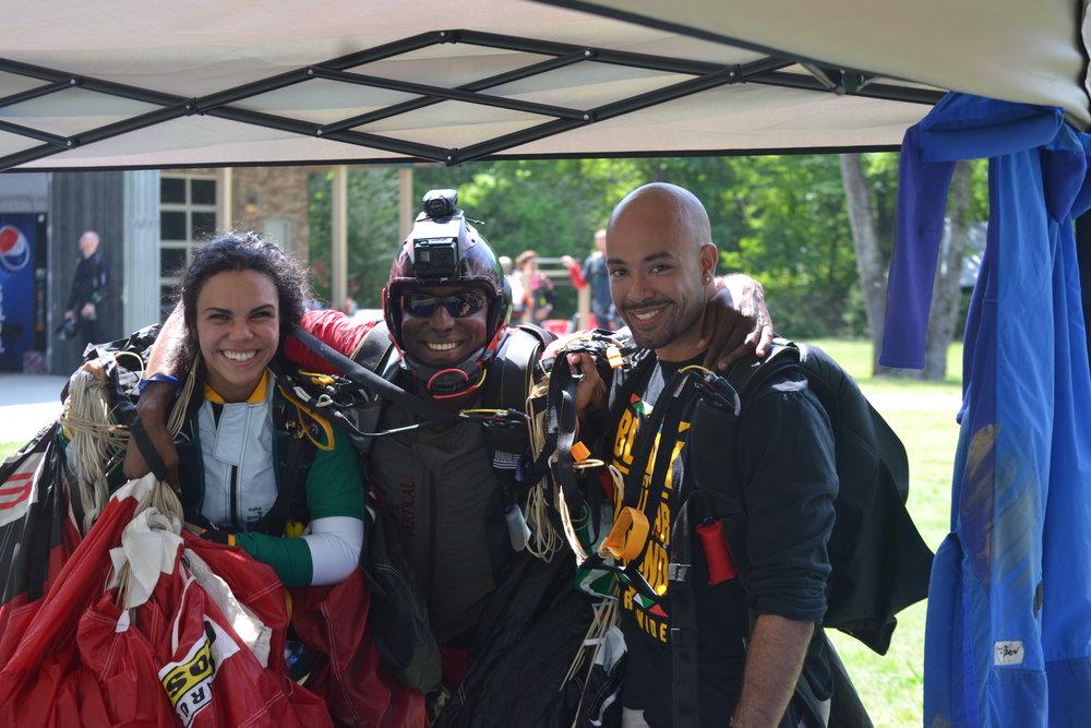 Tito, Sam, and I at Team Blackstar Skydivers annual meet-up at Skydive Atlanta.