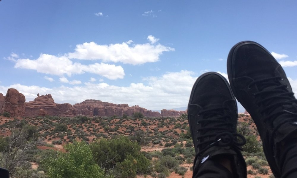 Arches National Park, Utah: I had never heard of any hiking shoe brands when I went on my first hike. Shit! I didn't even know what hiking boots even looked like!