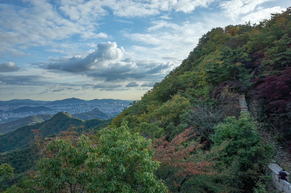 Taken from the Bukhansaneong Fortress wall within Bukhansan National Park