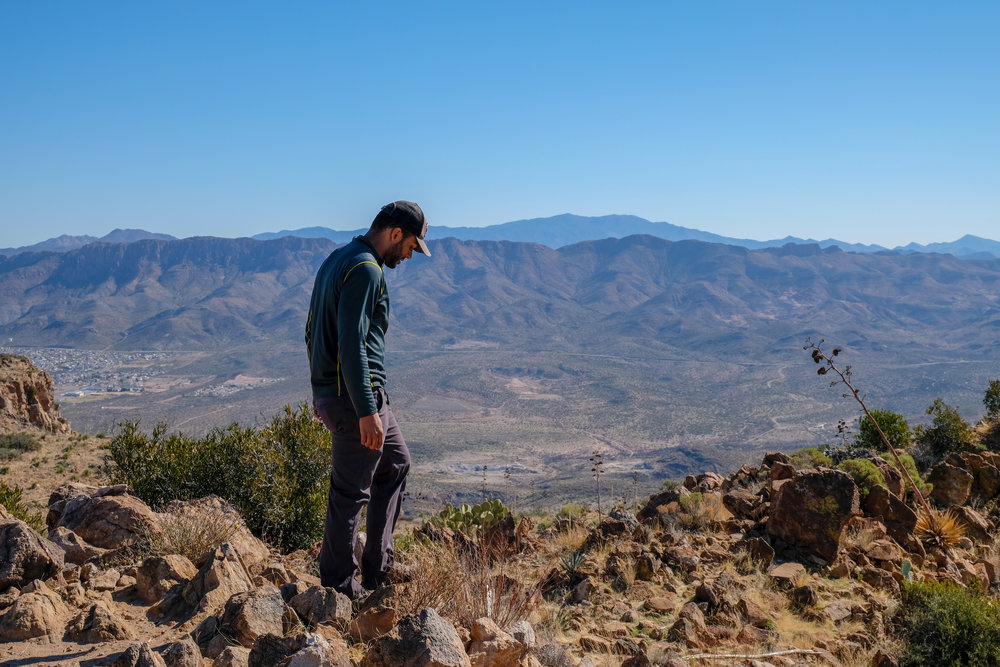 The author looking onward in Tonto National Forest