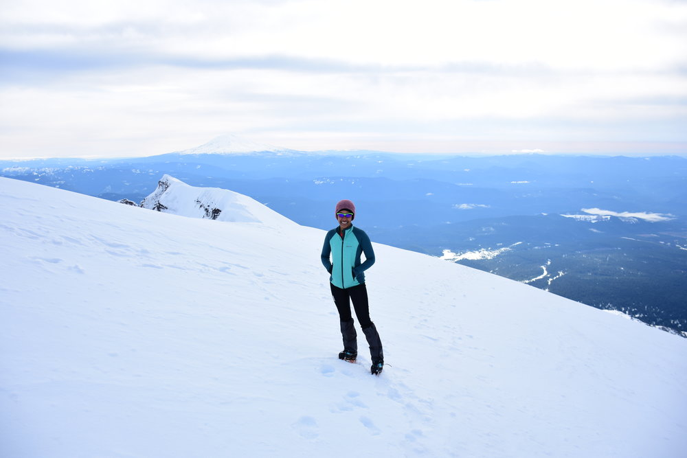 The author standing on top of Mount Saint Helens (8,366'), WA.
