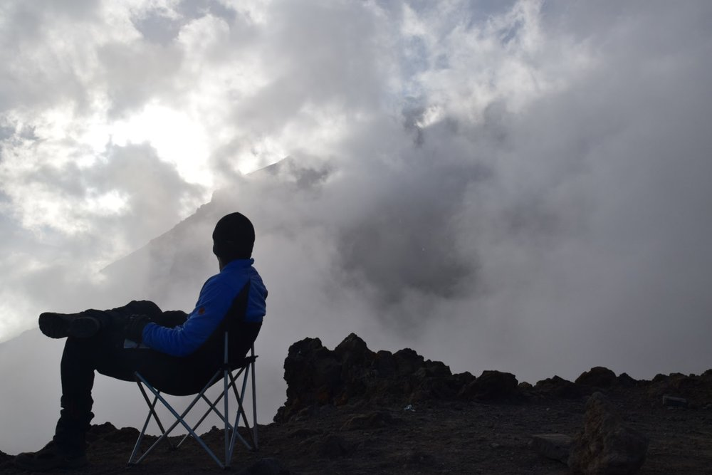 The last camp before the summit on Kilimanjaro's Machame route. Photo by Skyler Awisus.