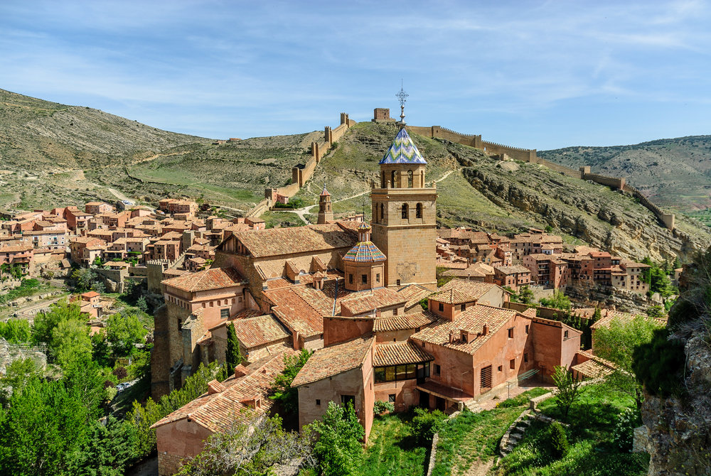 An overhead view of picturesque Albarracín, Spain (Photo credit: Getty Images).