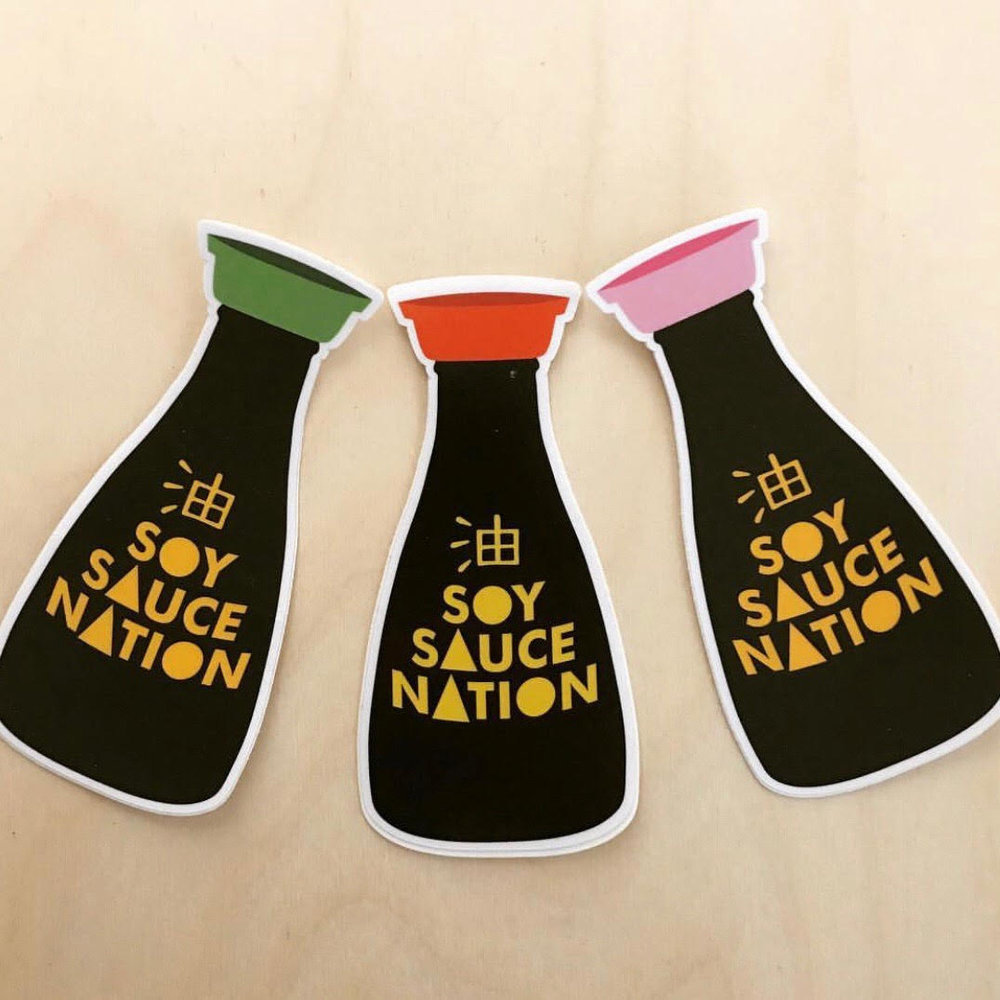 To learn more about how to rock your own Soy Sauce Nation sticker follow them on Instagram and slide into their DMs (Photo courtesy of Nirvana Ortanez).