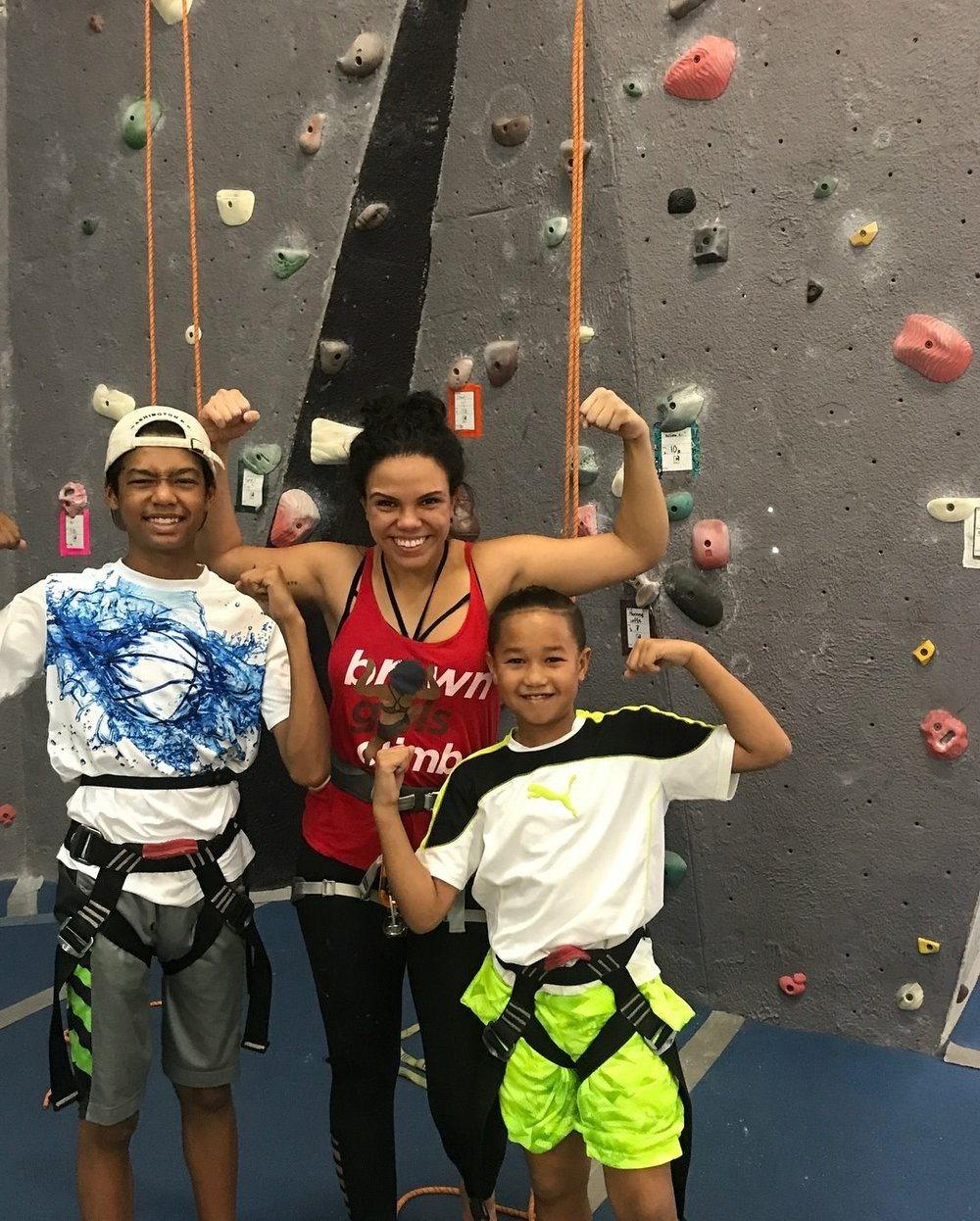 My nephews Raylen, Jayden and I at Coral Cliff Climbing Gym in Fort Lauderdale, Florida.