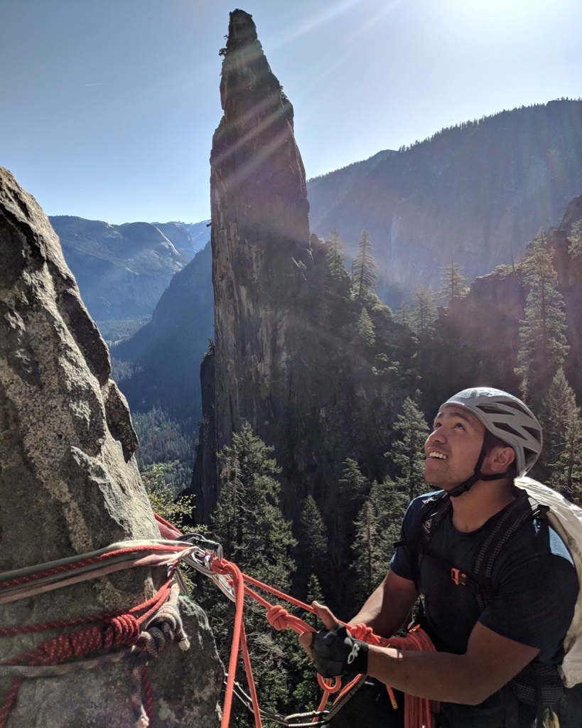 David Rozul on a climbing trip to Yosemite National Park.