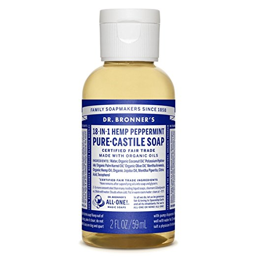 Dr. Bronner's Pure-Castile Liquid Soap - Peppermint, 2 Oz
