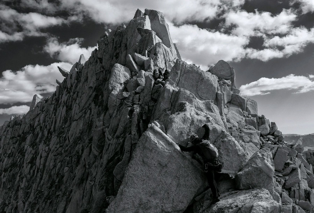 The author climbing in the Eastern Sierra's of California in September. Photo Courtesy of Jameson Schultz