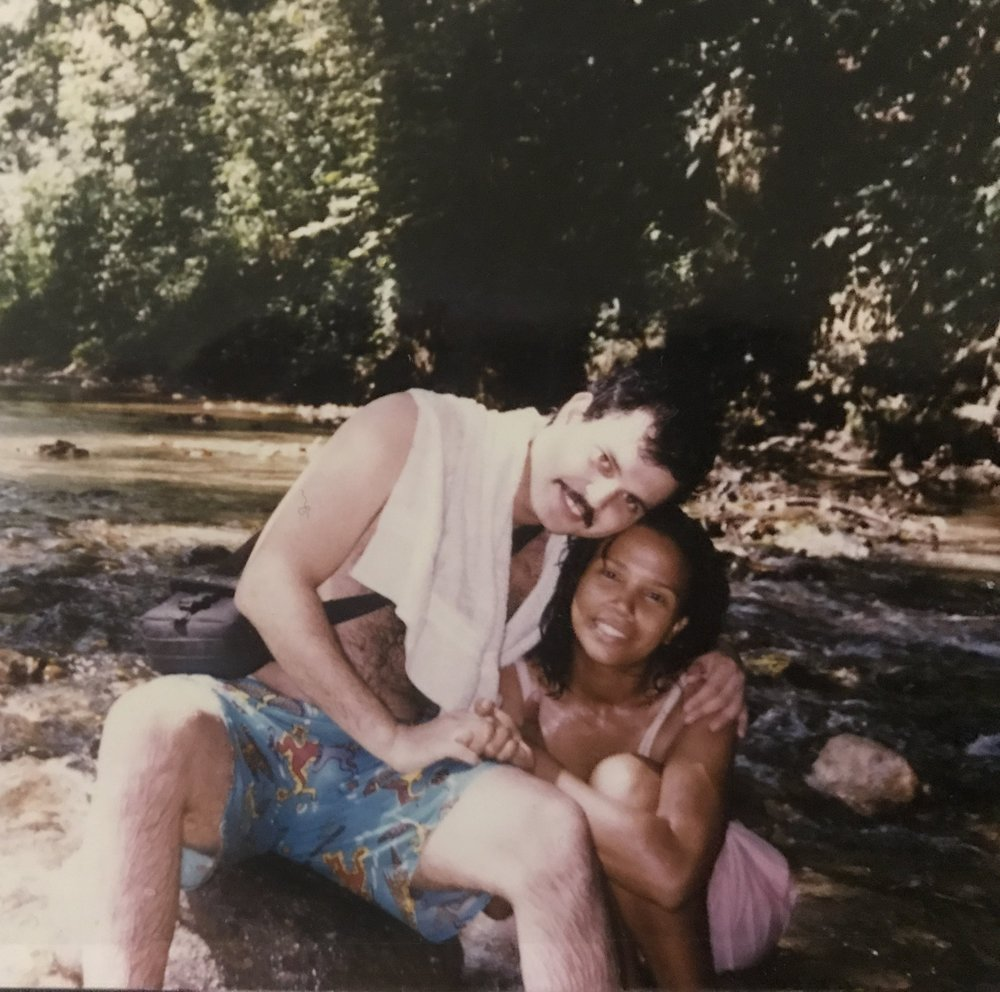 My parents enjoying a refreshing dip in the river long before I was even an idea in their mind.