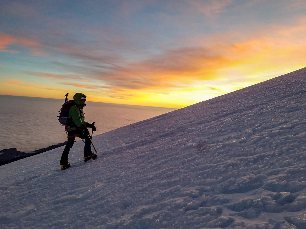 Photo Credit: Nathan Kaul (Rebecca ascending to the summit of Pico de Orizaba