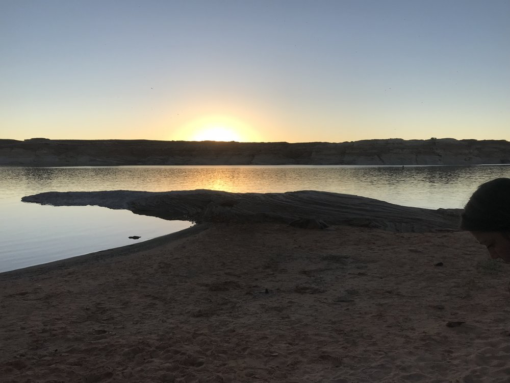 Sunrise over Lake Powell, Arizona.  Photo taken by Nadia Mercado